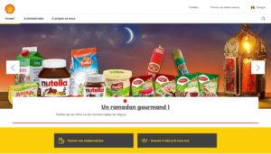 Capture d'écran du site web Shell Bannière Ramadan 2021
